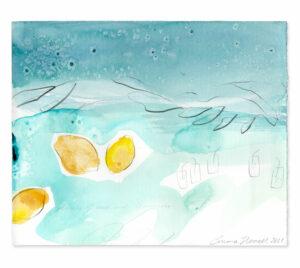 ouzo lemonade painting emma howell raw honey