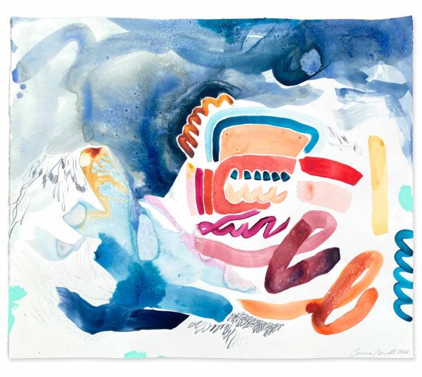 rain painting abstract emma howell raw honey