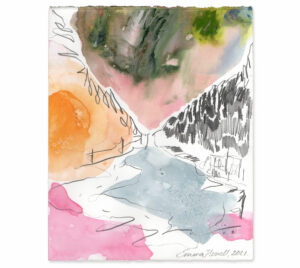 pink and green painting emma howell raw honey