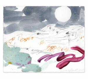 moon smoke painting emma howell raw honey